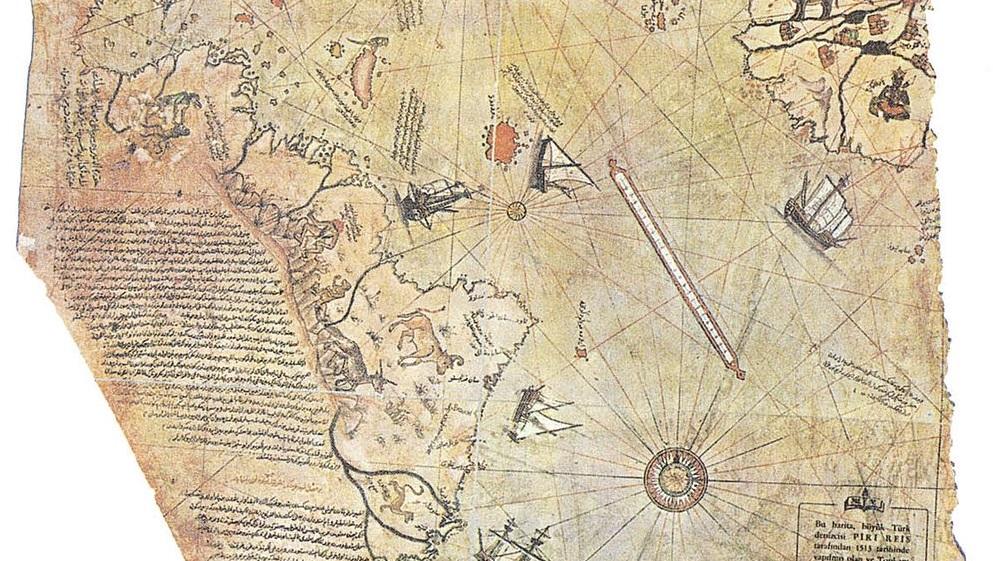 Piri Reis World Map Detail- WikiCommons